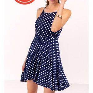Kendall polkadot navy dress.